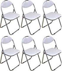harbour housewares white padded folding desk chair pack of 6