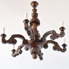 large carved wood chandelier from belgium