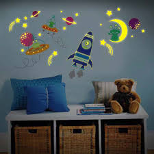 paints abstract outer space wall stickers with cool decal green outer space wall stickers