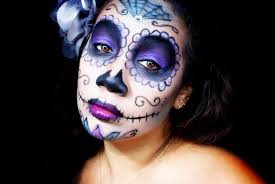 sugar skull makeup dark eyes image via honey s world
