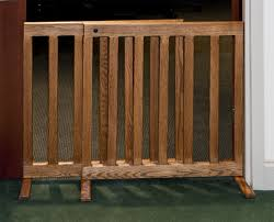 expandable gate  inch tall oak or maple wood  inch wooden