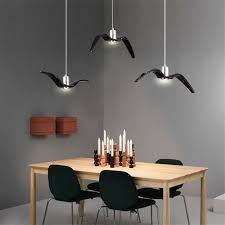 U Nordic Creative Bedroom Study Seagull Pendant Lamp Simple Iron Coffee Bar  LED Lighting Restaurant Industrial In Lights From