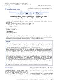 What Should A Birth Plan Look Like Pdf Utilization Of Individual Birth Plan During Pregnancy And Its
