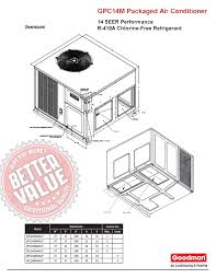 bard self contained unit wiring diagram bard discover your 40 ton goodman 14 seer r410a downflow or horizontal package
