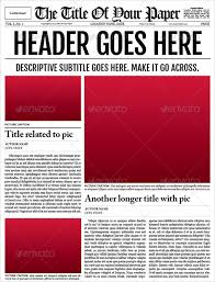 Kids Newspaper Template Free Blank Newspaper Template For Kids