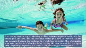 On a searing summer day, a swimming pool is a welcome respite from the heat  ...