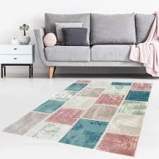 Teppich Flachflor Mit Geometrischen Muster Meliert Real
