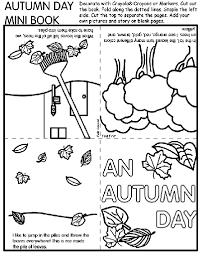 Small Picture Autumn Day Mini Book Coloring Page crayolacom