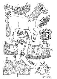 Paper Doll Coloring Pages Pony Paper Dolls 2 Dolls