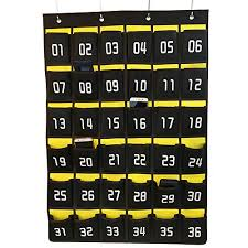 Chart Holder For Classroom Loghot Numbered Classroom Sundries Closet Pocket Chart For Cell Phones Holder Wall Door Hanging Organizer 36 Pockets