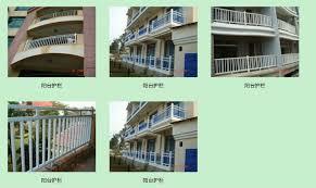 pvc garden fence balcony fence veranda fence pvc guardrail