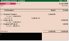 Creating A Voucher Inspiration Creating Sales Voucher Without Inventory TallyERP 48 Www
