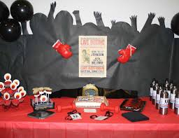 Boxing Party Decorations Boxing Party Ideas Catch My Party 2