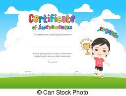 Kids Certificate Border School Kids Diploma Certificate Template With Animal Cartoon