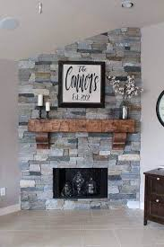 warm wood corbel supported fireplace mantel