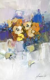 saatchi art artist vahe yeremyan painting flowers original oil painting by palette