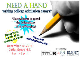 College Essay Writing Workshop Does Your Student Need Help With His Or Her College Essays