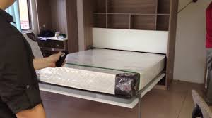 Electric Murphy Bed Motorised Wall Bed Queen Size Youtube