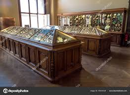 stone hall table. Vienna Natural History Museum With Mineral, Stone Hall \u2014 Stock Photo Table