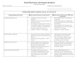 Job Site Analysis Template Simple Risk Assessment Templates Free Premium Template For Cleaning Company
