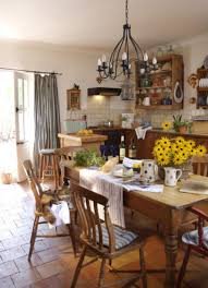 rustic country dining room ideas. Country Dining Room Terracotta Floor With Wrought Iron Ceiling Lighting Fixture For French Decorating Ideas Rustic Solid Wooden