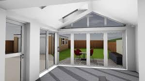 contemporary garden room internal view