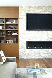 corner electric fireplace tv stand stone with above ideas