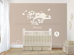 Ramo con nome adesivo murale decorazioni casa ramo gatto e