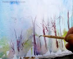 how to use a rigger brush watercolor painting lesson