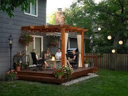 small backyard decks patios landscaping gardening ideas lentine with regard to small backyard decks patios