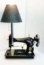 Very unique sewing machine table lamp New Home sewing machine