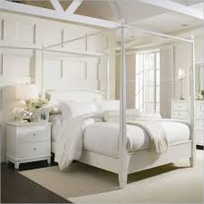 American Drew Sterling Pointe Off-White Wood Poster Bed 3 Piece ...