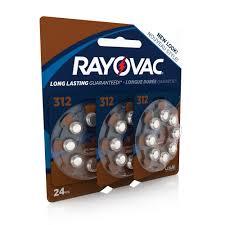 Hearing Aid Battery Sizes Chart Rayovac Size 312 Hearing Aid Batteries 24 Pack L312za