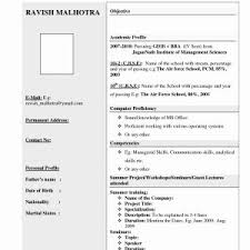 Resume Samples For Freshers Mechanical Engineers Pdf New Sample ...