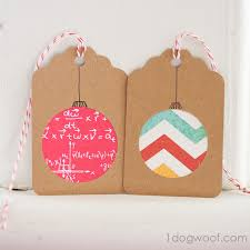 Make homemade Christmas gift tags with scrapbook paper
