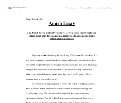 the amish have a distinctive culture do you think their beliefs  document image preview