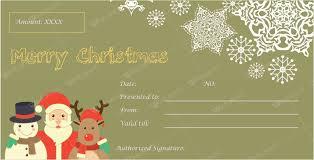 Printable Christmas Certificates Christmas Gift Certificate Templates for Word Editable Printable 90