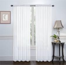 me white window curtains