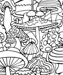 Small Picture Trippy Mushrooms Coloring Page Coloring Home