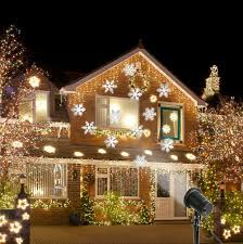 waterproof snow laser projector lamps snowflake led stage light for outdoor party romantic landscape garden lawn lamp in spotlights from lights