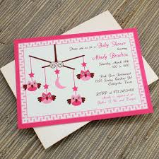Do It Yourself Baby Shower Invitation Templates Baby Shower Invitation Template Baby Girl Owl Mobile