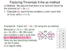 Ac Method 5 3 Factoring Trinomial Ii