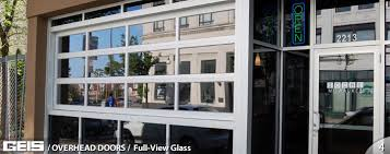 Plain Glass Garage Door Commercial Overhead Full View From Throughout Perfect Ideas