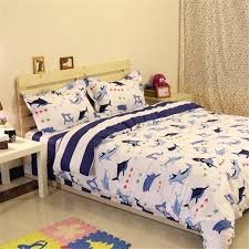 shark sheets queen kids bedding set sharks fishes ocean themed stripe kids boys duvet cover sets