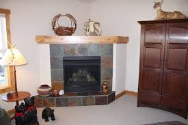 corner fireplace ideas stone