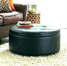 round leather ottoman coffee table. Black Leather Coffee Table Round Ottoman . O