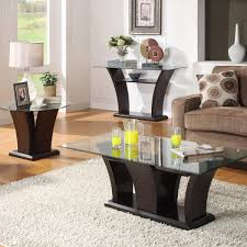 homelegance daisy glass top sofa table  beyond stores