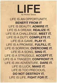 Life Quotes Mother Teresa