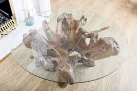 Teak And Glass Coffee Table Furniture Round Teak Root Coffee Table Glass Top New 2017 Design