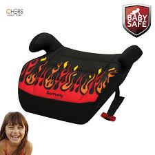 kids backless booster car seat cushion toddler safety belt travel portable base